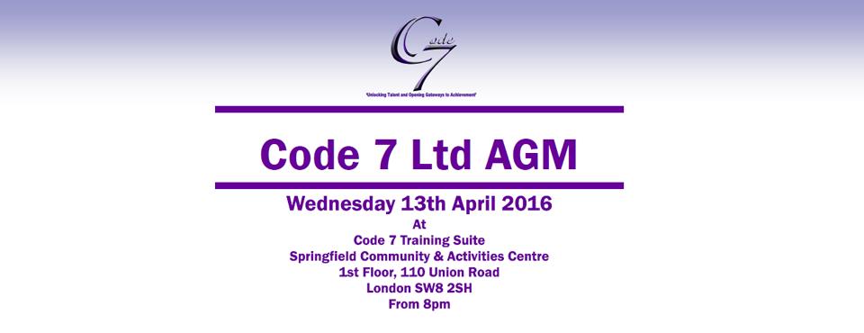 Code 7 Ltd AGM